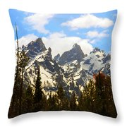 The Grand Tetons Throw Pillow