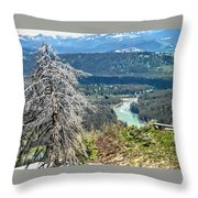 The Grande Tetons Throw Pillow