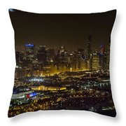 The Grateful Dead At Soldier Field Fare Thee Well Tour Aerial Photo Throw Pillow