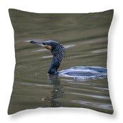 The Great Cormorant Throw Pillow