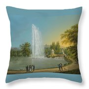 The Great Fountain Throw Pillow