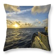 The Guided-missile Cruiser Uss Monterey Throw Pillow