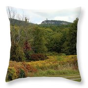 The Gunks Throw Pillow