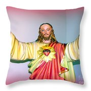 The Hands Of Christ Throw Pillow