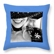 The Hat Bw Throw Pillow