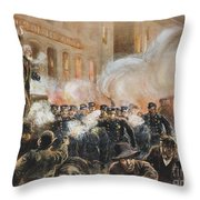 The Haymarket Riot, 1886 Throw Pillow by Granger