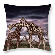 The Herd Throw Pillow