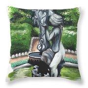 The Hidden Fountain Throw Pillow