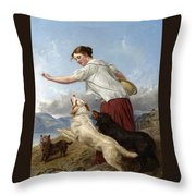 The Highland Lassie Throw Pillow