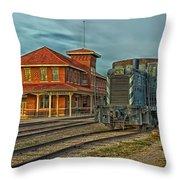 The Historic Santa Fe Railroad Station Throw Pillow