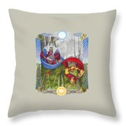 The Holly King And The Oak King Throw Pillow