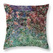 The House Among The Roses Throw Pillow