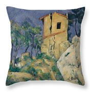 The House With The Cracked Walls Throw Pillow