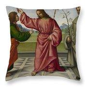 The Incredulity Of Saint Thomas Throw Pillow