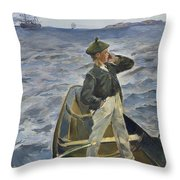 The Inshore Channel Throw Pillow