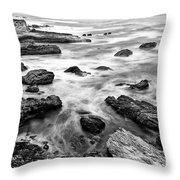 The Jagged Rocks And Cliffs Of Montana De Oro State Park Throw Pillow