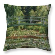 The Japanese Footbridge And The Water Lily Pool Giverny Throw Pillow