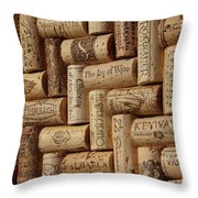 The Joy Of Wine Throw Pillow