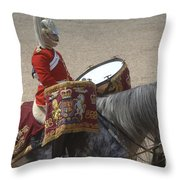 The Kettledrums Of Household Cavalry Throw Pillow