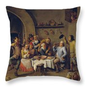 The King Drinks Throw Pillow