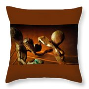 The Knockout Punch Throw Pillow