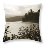 The Lake Of Two Rivers At Dawn Throw Pillow