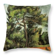 The Large Pine Throw Pillow
