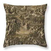 The Last Judgment Throw Pillow