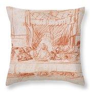 The Last Supper, After Leonardo Da Vinci Throw Pillow