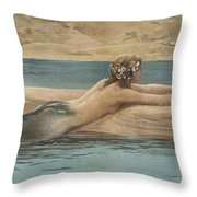 The Little Sea Maid Throw Pillow