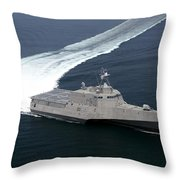 The Littoral Combat Ship Independence Throw Pillow
