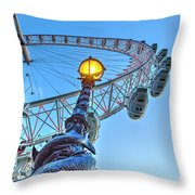 The London Eye And Street Lamp Throw Pillow