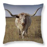 The Longhorn Throw Pillow