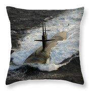 The Los Angeles-class Submarine Uss Throw Pillow