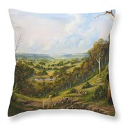 The Lost Sheep In The Scrub Throw Pillow