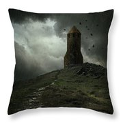 The Lost Tower Throw Pillow