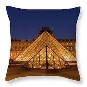 The Louvre Art Museum Throw Pillow