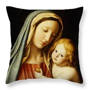 The Madonna And Child Throw Pillow by Il Sassoferrato