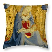 The Madonna Of Humility Throw Pillow
