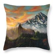 The Majestic Mountain Throw Pillow