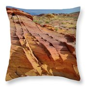 The Many Colors Of Valley Of Fire Throw Pillow