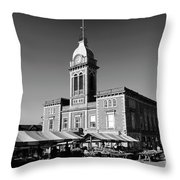 The Market Hall, Market Square, Chesterfield Town, Derbyshire Throw Pillow