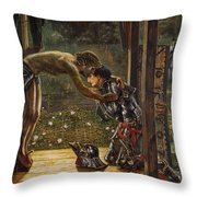 The Merciful Knight Throw Pillow