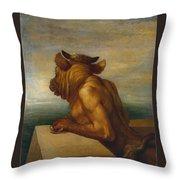 The Minotaur Throw Pillow