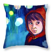 The Miracle Throw Pillow by Angelique Bowman