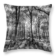 The Monochrome Forest Throw Pillow