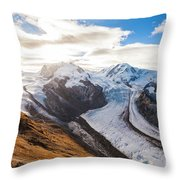 The Monte Rosa Massif In Switzerland Throw Pillow