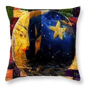The Moon Has A Bath Throw Pillow