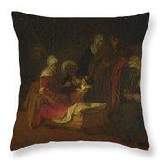 The Naming Of Saint John The Baptist Throw Pillow