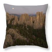 The Needles Protrude From Forests Throw Pillow